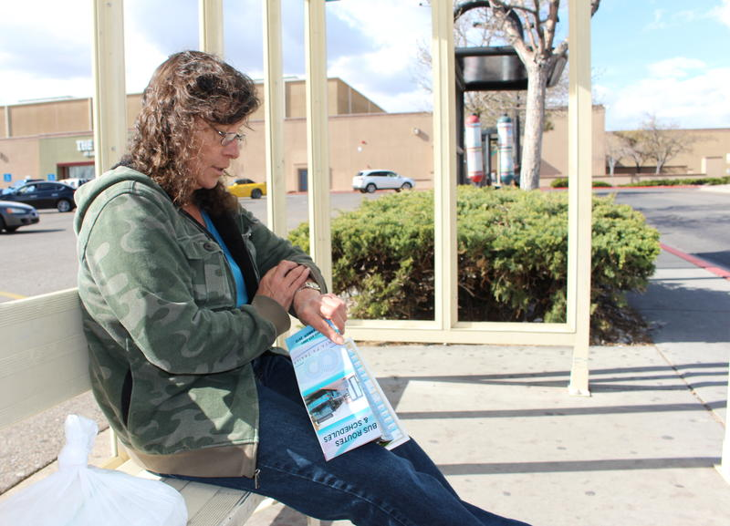 """I live on the bus, practically,"" said Santa Fe native Theresa C De Baca, who has been priced out of the downtown area."