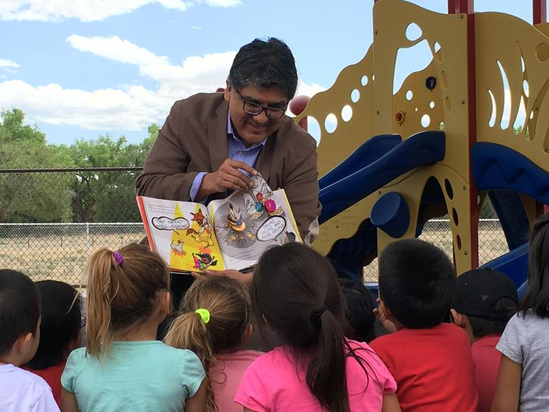 Author Sherman Alexie reading his new book for kids, Thunder Boy
