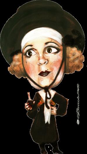 "Art: Azucena Maizani, ""La Ñata Gaucha"" by El Bernie"