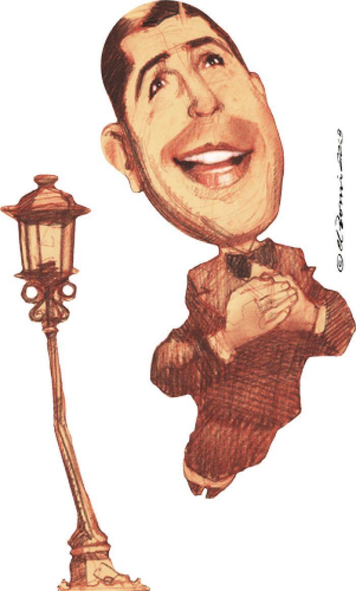 Caricatura de Carlos Gardel