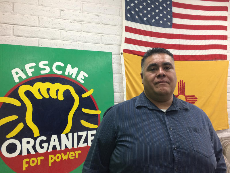 Frederick Garcia, president of the Doña Ana / Otero chapter of the state employees union and a worker with the state's Income Support Division