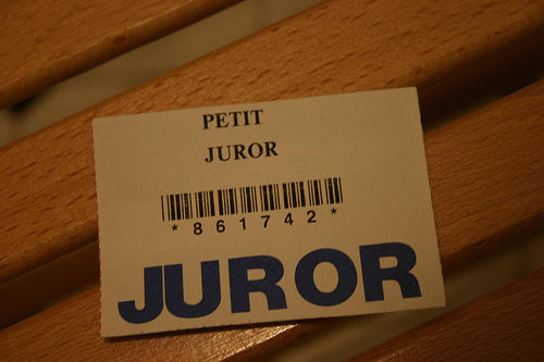 A Juror Badge