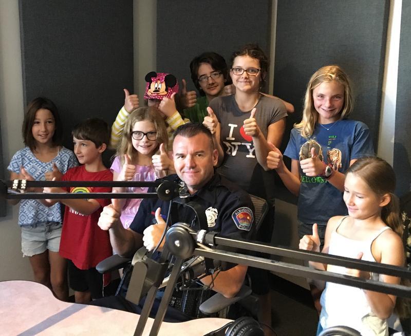 Officer Simon Drobik and the KUNM Kids
