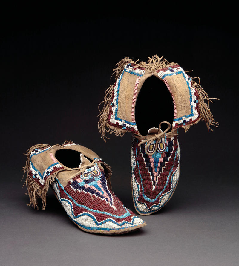 Kiowa Moccasins, Circa 1870 Oklahoma or Texas Ex Robert Bauver Collection Ex Ned Jalbert Collection