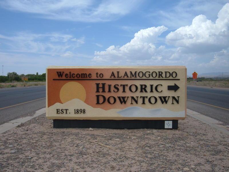 Alamogordo Welcome Sign
