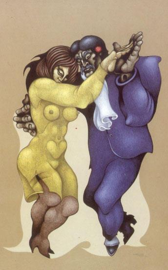Painting: Tango Pasión by Ricardo Carpani (Bs. As., 1930-1997)