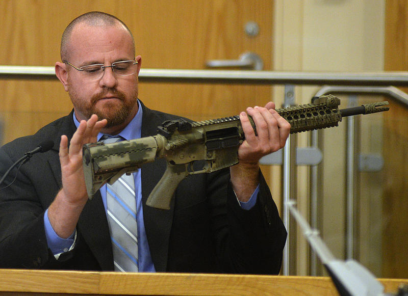 Det. Geoffrey Stone, who led the internal investigation into James Boyd's shooting, explains which parts of a rifle can be changed out