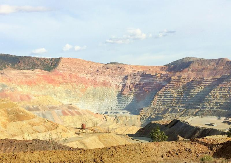 The Chino Mine near Silver City is one of the world's largest open pit copper mines. Also known as the Santa Rita Mine, its open pit operations began in 1910.