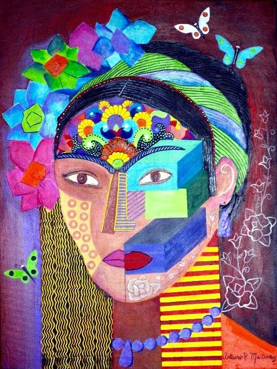"""Frida con Flores""  (""Frida Kahlo: Tree of Hope"" CD by Gloria Arjona)"