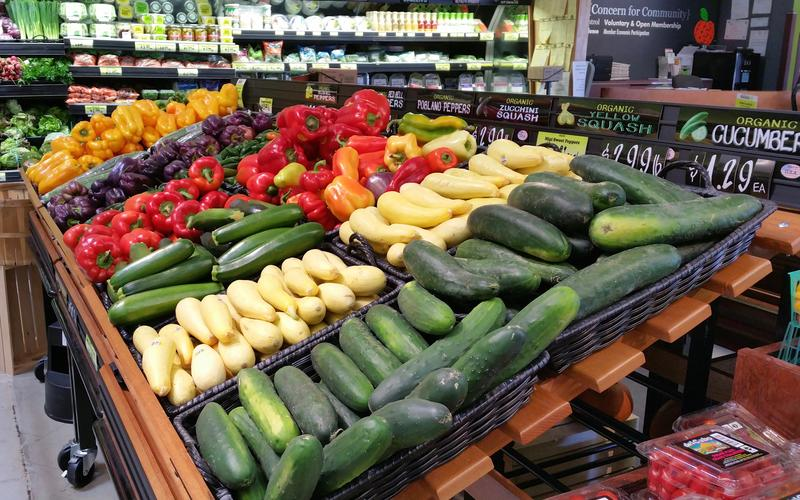 Organic vegetables at La Montañita's Nob Hill store