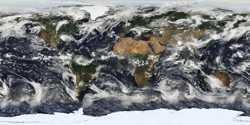 A composite of satellite images of our planet