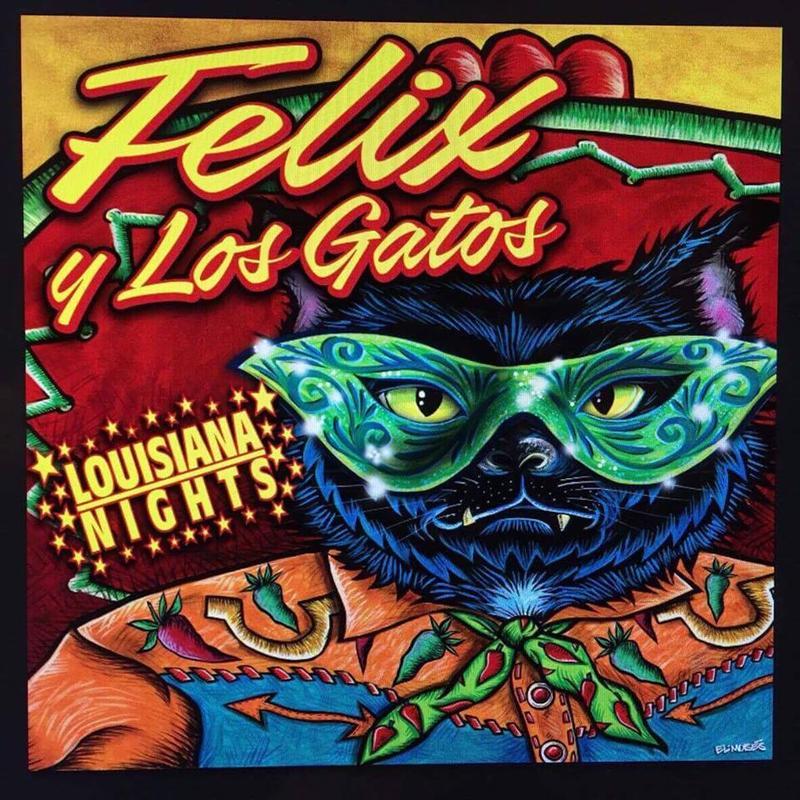 """Félix y Los Gatos: """"Louisiana Nigths"""" Cover CD"""