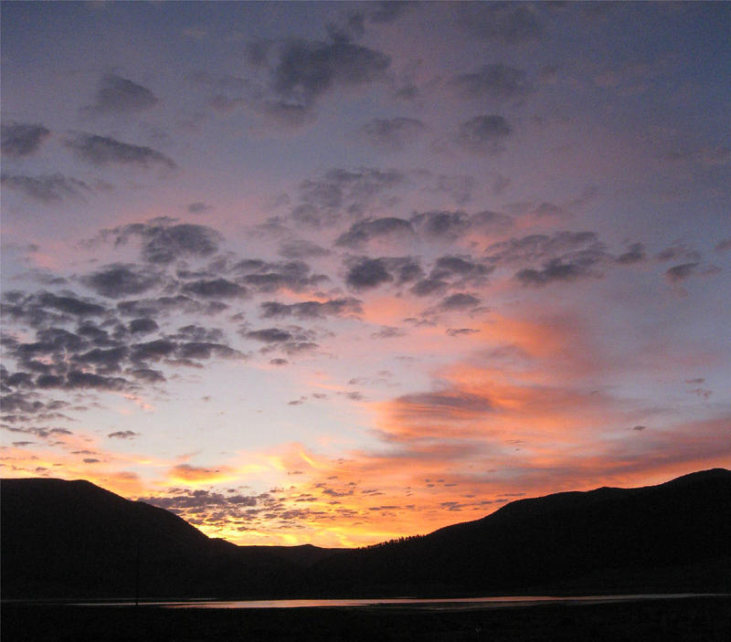 Sunrise over Eagle Nest Lake, New Mexico