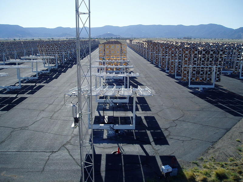 Heliostat Field at the NSTTF at Sandia National Labs