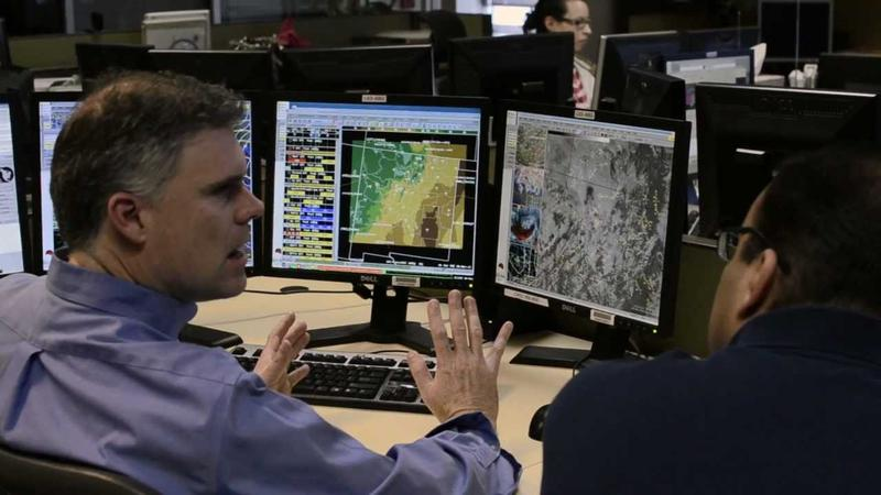 Kerry Jones, meteorologist with the National Weather Service Albuquerque, hard at work