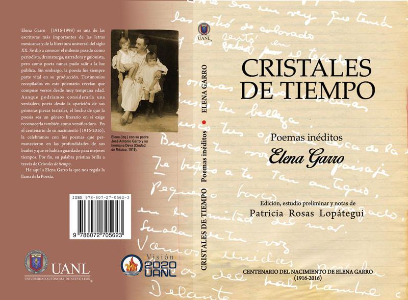 """""""Cristales de tiempo. Poemas inéditos. Elena Garro"""" Cover"""