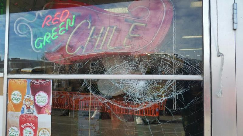One of the windows at Garcia's Kitchen on the morning of Thursday, Jan. 12.