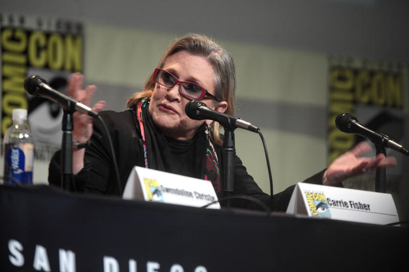 Carrie Fisher at 2015 San Diego Comic Con