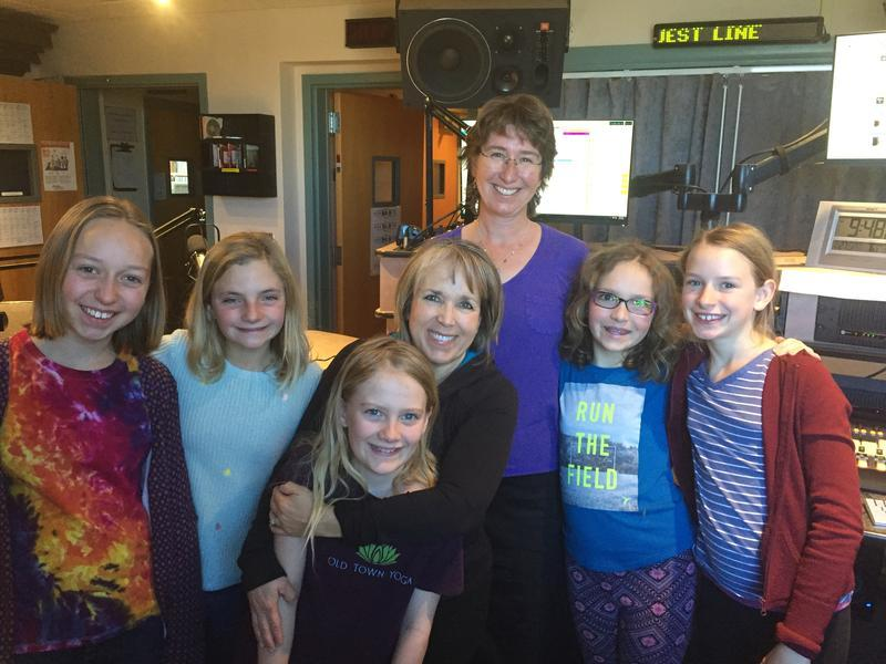 Congresswoman Michelle Lujan Grisham joins the KUNM Kids in the studio