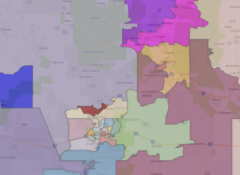 New Mexico State Senate Districts