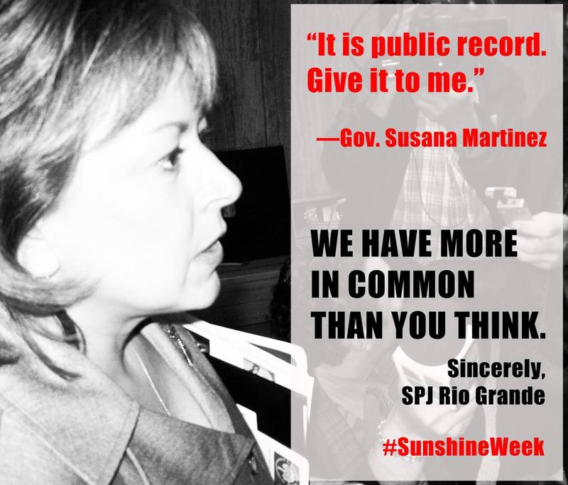 A meme created for Sunshine Week by the Society of Professional Journalists, Rio Grande Chapter