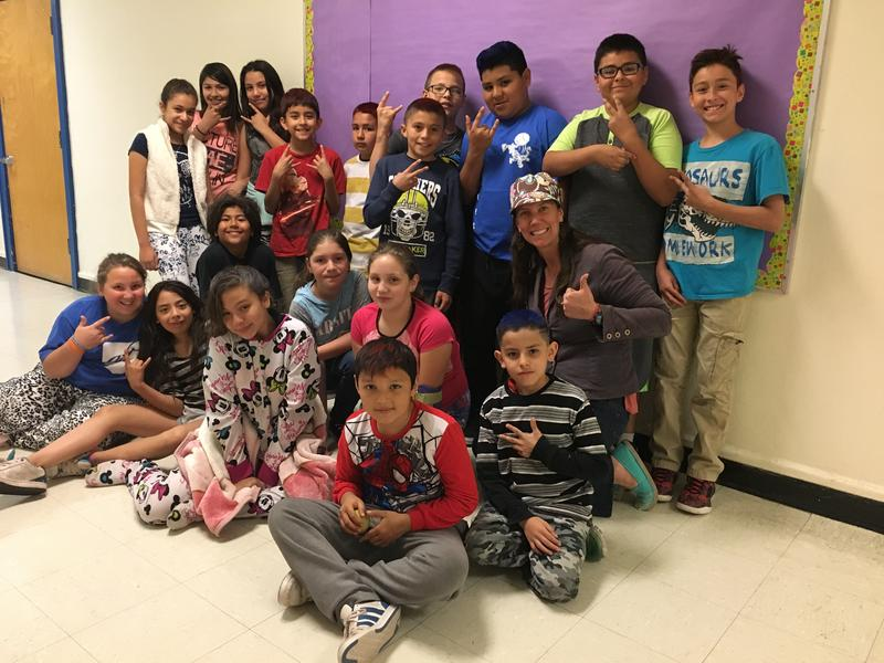 Mrs. Hawk's Fifth Grade Class at Duranes Elementary School in Albuquerque's North Valley