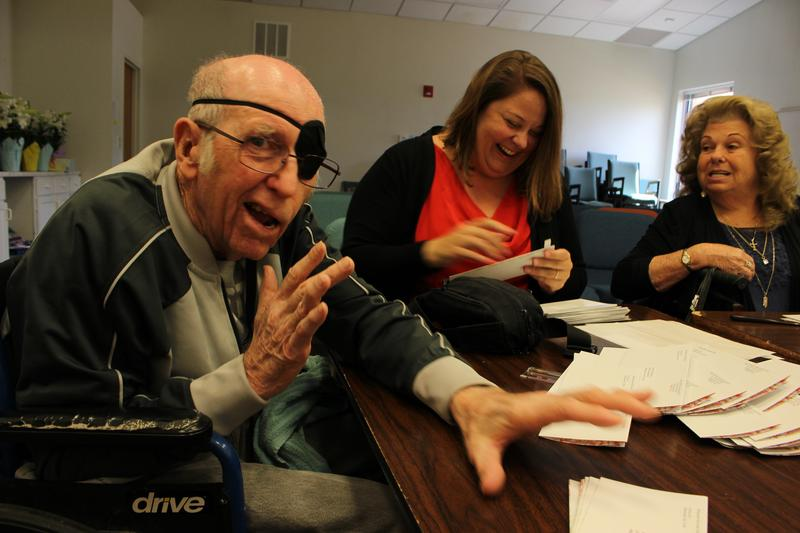 Marvin Taylor converses at his stroke survivor support group he leads every Thursday at St. Andrew Presbyterian Church in Albuquerque.