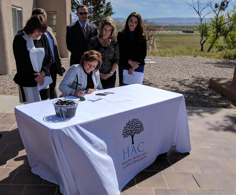Governor Martinez signs HB 370, making naloxone more available in the state.