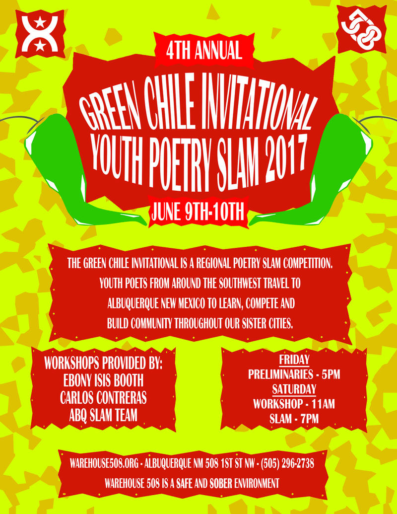 4th Annual Green Chile Regional Slam Poetry Competition  (Poster)