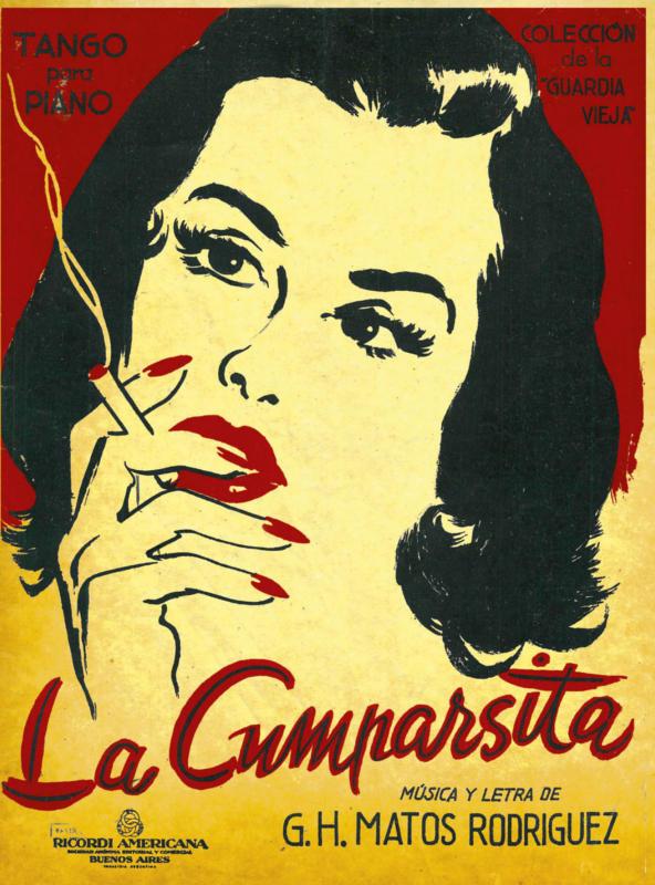 Cover of Piano Score, La cumparsita, Colección de la Guardia Vieja