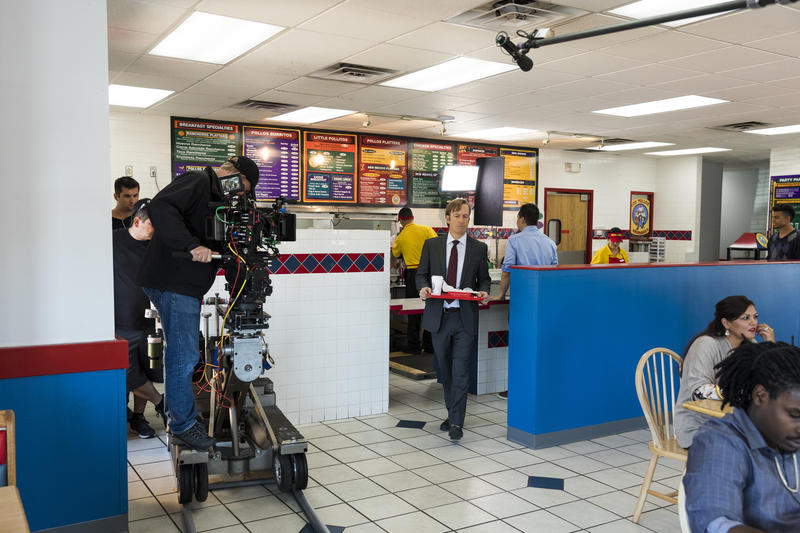 "Bob Odenkirk as Jimmy McGill in ""Better Call Saul"" at Twisters in Albuquerque's South Valley"