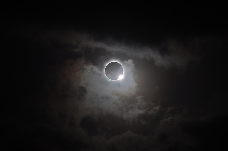A total solar eclipse viewed from Australia in 2012.