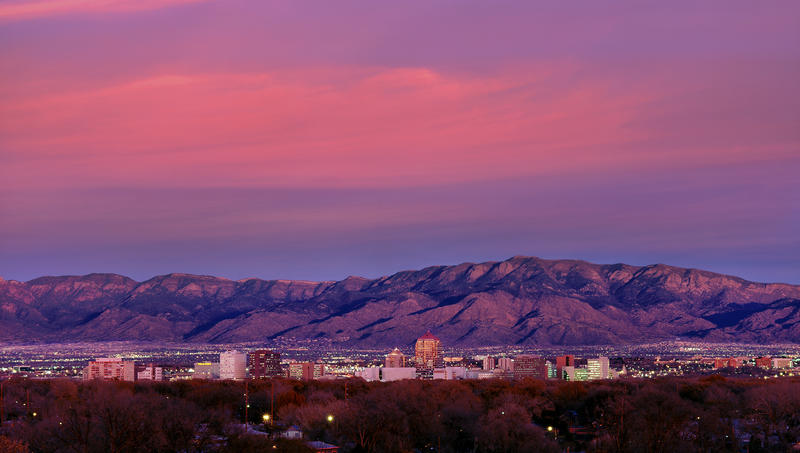 Albuquerque at sunset