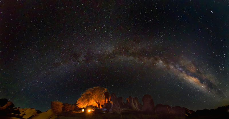 The Milky Way As Seen From City Of Rocks, NM