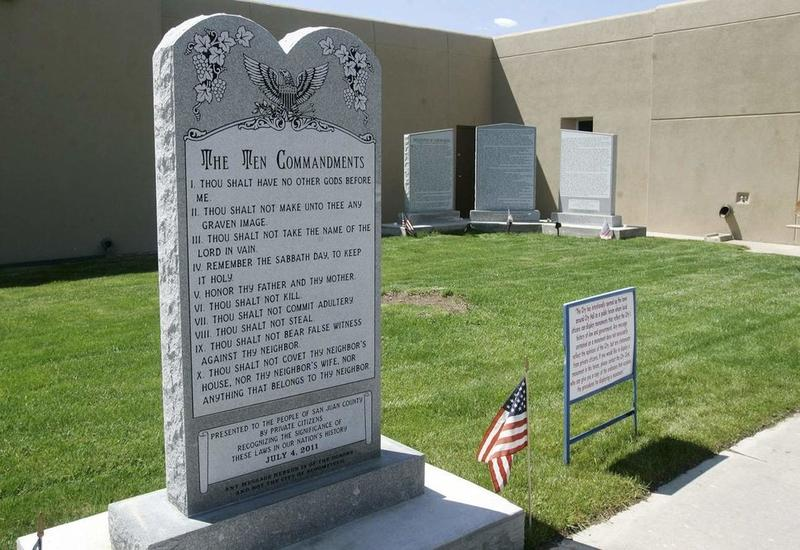 Ten Commandments Monument in Bloomfield, NM