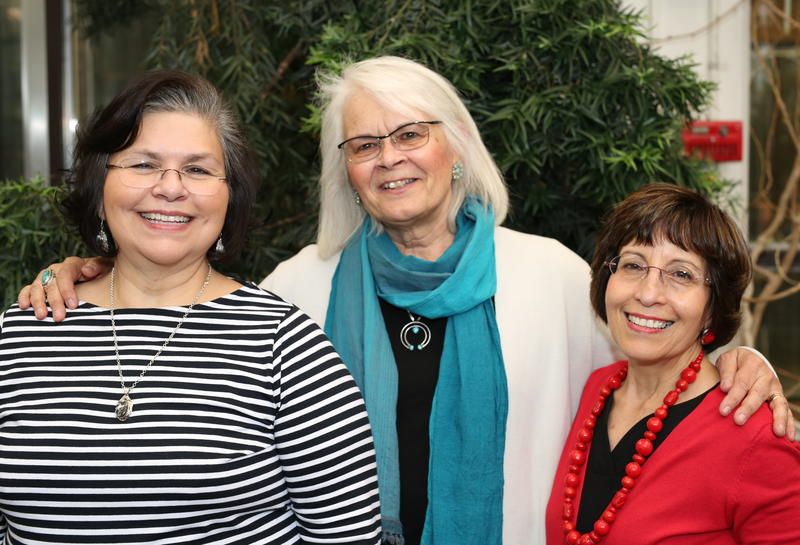 Nancy Hurtado-Ziola, Margaret Werner Washburn and Lupe Atencio who have been working on the New Mexico Educated Workforce in STEM Symposium