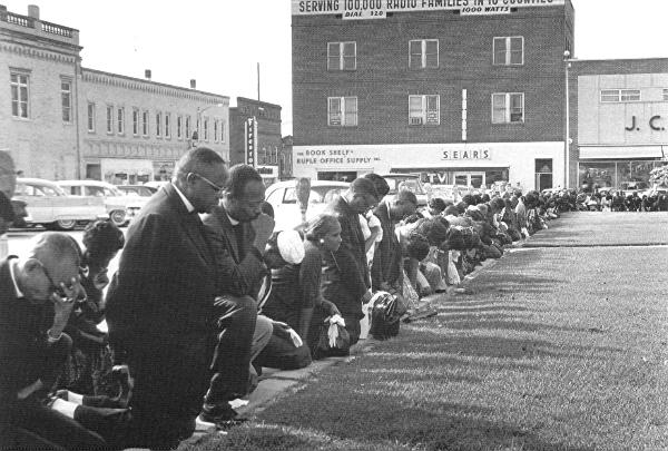 Prayer on the front lines of the fight for civil rights, 1963