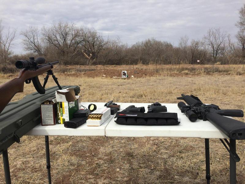 Target shooting in Belen, N.M.