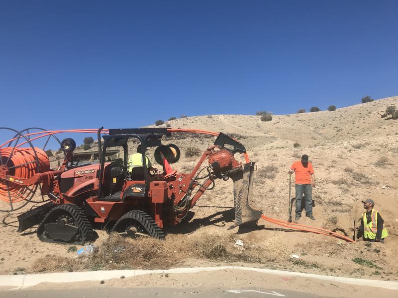 Installation of broadband fiber near San Felipe Pueblo