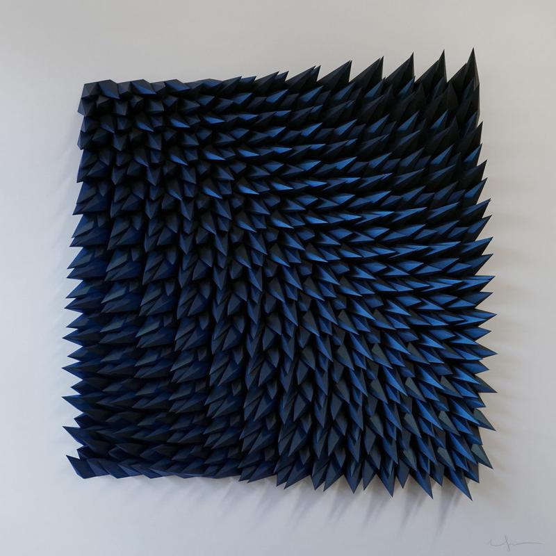 "Unholy 62  Iridescent Sapphire Paper 48"" x 48"" x 4"""