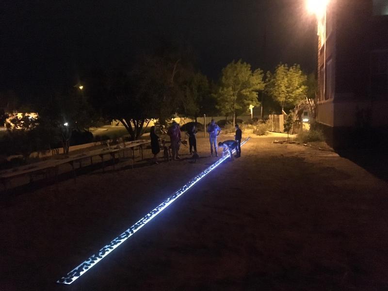 Glowing border at Harwood Art Center