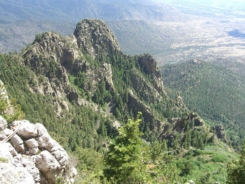 You'll have to wait until the fire danger has faded and the Sandia Ranger District opens the forest again before you can check out this view from the crest.