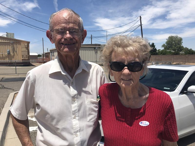Bob Moyer and his wife Barbara Moyer are from opposite parties. But they agree that crime is a major issue.