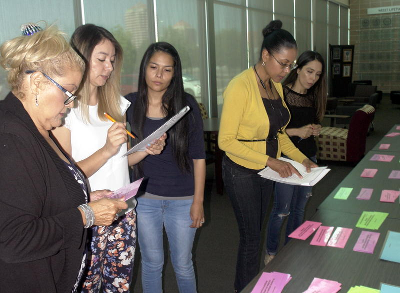 Valley Community Interpreter students learn professional standards of practice in an interactive activity.
