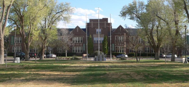 Administration building at Eastern New Mexico State University