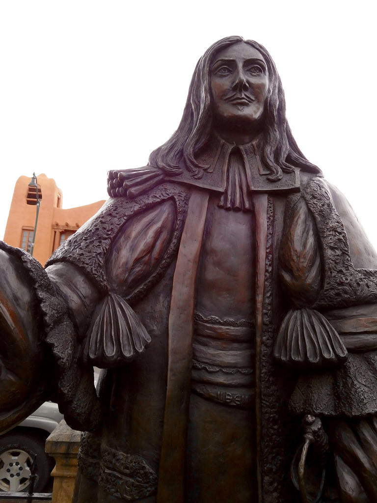 The statue, Don Diego de Vargas