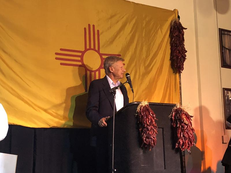 Gary Johnson gives his concession speech on election night.
