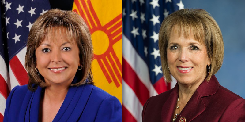Governor Susana Martinez and Governor-elect Michelle Lujan Grisham
