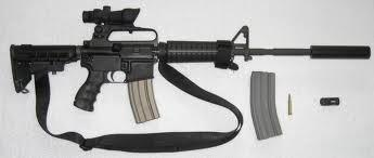 An AR 15 rifle, similar to the weapon used by Newtown shooter