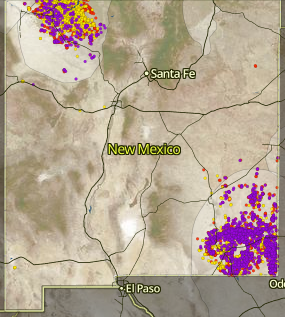 The new interactive map put out by the Center for Western Priorities shows oil and gas spills in New Mexico.